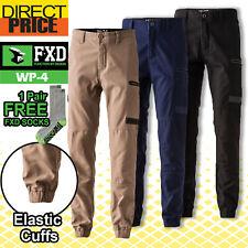 FXD Work Pants WP-4 Cuffed Workwear Trousers Stretch Elastic Hem cargo bottom
