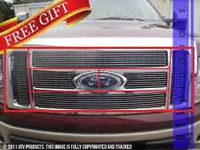 GTG 2009 - 2012 Ford F150 Lariat / King Ranch 6PC Overlay Billet Grille Kit