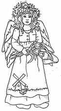 Unmounted Rubber Stamps, Christian, Angels, Netherlands, Holland, Tulips Angel