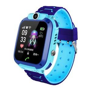 Montre Connectée Enfant Téléphone Caméra SOS Tracker Tactile SmartWatch Bleu