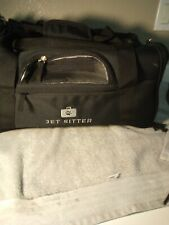 JET SITTER--TSA APPROVED--PET CARRIER--CAT / SMALL DOG--BLACK---FREE SHIP--NEW