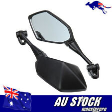 Left+Right Side Rear View Mirrors Black 4 yamaha R1 R3 R6 FZ6 tmax530