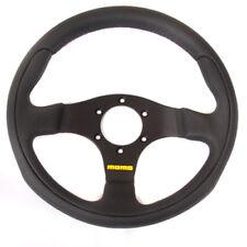 Black Momo 300mm steering wheel - Kit car, classic car, race car - INT0012