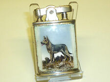 RONSON STERLING SILVER LIGHTER W. GLASS ENAMEL - U.S. PAT. RE. NO 19023 - U.S.A.