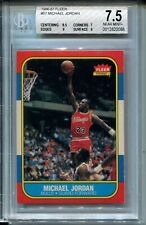 1986 Fleer #57 Michael Jordan Rookie Card RC Graded BGS Nr MINT+ 7.5 w 8.5 9s