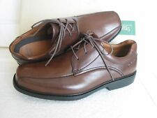 NEW CLARKS MENS GATEWOOD SOFT BROWN LEATHER SHOES SIZE 7 & 7.5