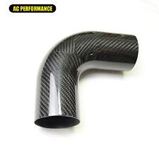 """3K Carbon Fiber Tube 90 Deg, 76mm(3"""") OD, 150mm(6"""") Leg Length, 1.5mm Thickness"""