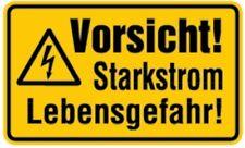 Schild PVC Vorsicht! Starkstrom Lebensgefahr! 120x200mm