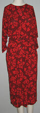 SMART SET Size 5 Red Batwing Sleeves Dress (Made in Canada)