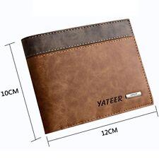 Slim Men's Mens Leather Wallet ID Credit Card Holder Money Purse Clutch Pockets