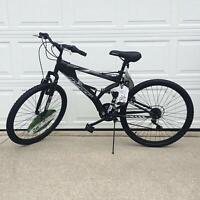 "ALUMINUM MOUNTAIN BIKE 21 Speeds Full Suspension 26"" Men Bicycle Shimano Black"
