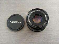 YASHICA LENS ML 50 mm 50mm 1:1.9 1.9 -- Contax