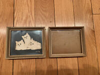 2 Pair Vintage Wood Picture Frame 5.5x4.5 and 5x4 Inches