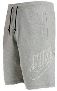 Nike Men's Shorts Hbr Fleece Sweat Casual Shorts Pockets Cotton Grey S,M,L