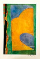 Hand signed Matisse vintage multi-color offset lithograph with Gallery Letter