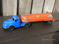 Vintage Lone Star Articulated Esso Fuel Petrol Tanker Truck Lorry Red Blue Toy