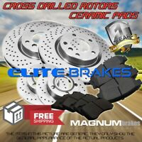 F+R Cross Drilled Rotors & Ceramic Pads for 2015-2017 Subaru Forester 2.5L