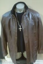 DANIER Men's Brown  Leather Blazer Jacket size XL