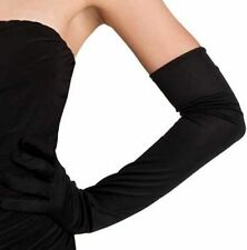 Gants noirs stretch extra longs 60 cm sexy pinup retro