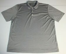 Mens Greg Norman PlayDry Ml75 Short Sleeve Ss Golf Polo Shirt Xl Gray Heathered