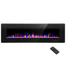"""60"""" Electric Fireplace,Recessed&Wa ll Mounted,Ultra Thin$Low Noise,Remote Control"""