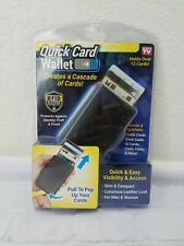 """Quick Card Wallet : """"As Seen On TV"""", Slim RFID Blocking, Holds 12 Cards & Money"""