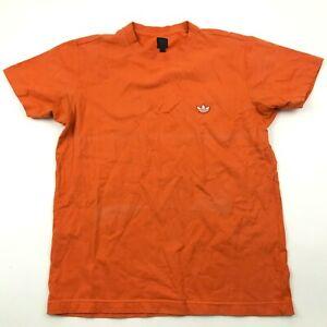 Adidas Shirt Size Medium M Orange Short Sleeve Tee Trefoil Logo Adult Top Men's