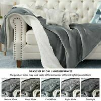 Sherpa Flannel Fleece Reversible Blanket Extra Soft Brush Throw for Couch Sofa