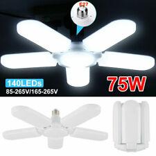5 Blades 75W E27 LED Garage Lights Deformable Ceiling Light Fixture Lamp