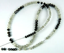 9.48 Cts Natural Loose Beads Diamond Black White Color 8.00 inches Q57