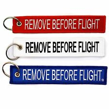 Patriot Pack Remove Before Flight Key Chain red white blue truck aviation pilot
