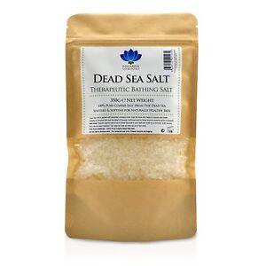 Dead Sea Salt - Pure Natural Food / Spa Grade Mineral Bath Salts Body Scrub 350g