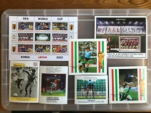 Thematic Football unchecked mint sheets (bb534)