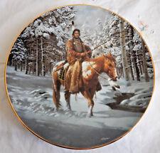 "'Man Who Walks Alone' Mystic Warriors, Hamilton Collection Plate 8-1/4"""