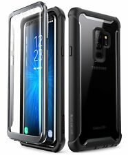 Samsung Galaxy S9 Plus Rugged Clear Bumper Case with Built-in Screen Protector