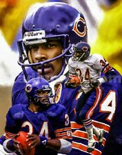Walter Payton  Chicago Bears Running Back 3 NFL Football 8x10-48x36 CHOICES