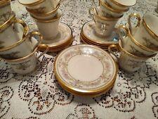 Lenox Castle Garden Pattern Fine China Coffee/Tea Cup & Saucer- Used