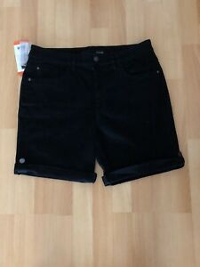 Ladies DKNY Shorts Black Size UK12 US8