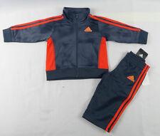 adidas Baby Boys' Set 2-piece Sports Set Sizes 6 9 12 18 24 Months 6m Polyester Navy Blue