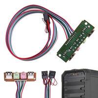 1* PC Computer Front Panel Case USB 2.0 Mic Earphone 3.5mm Audio Replace  UKQQ