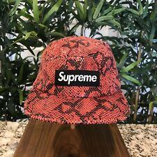 Supreme Snake Skin Camp Cap OG Rare Box Logo