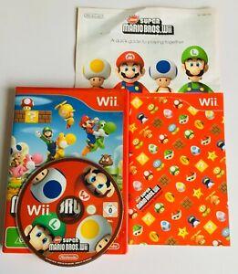 SUPER MARIO BROS Nintendo Wii Complete PAL Video Game FREE POST K