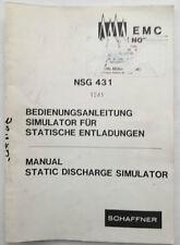 Schaffner NSG 431 Static Discharge Simulator Manual (English/German)