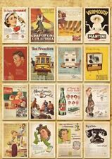 32pcs Vintage Postcards Retro Advertising Movie Travel Post Cards UK