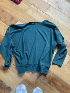 Ladies Batwing Green Top From Wallis Size 12 (M)