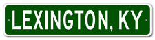 LEXINGTON, KENTUCKY  City Limit Sign - Aluminum