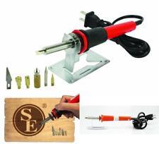 25Watt Wood Burning Pen Kit Hand Engraver Hobby Professional Tool Art Set 6 Tips