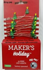 25 LED Mini String Light  Christmas Green Tree Shape Holiday Light Decorations