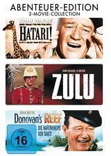 HATARI! + ZULU + DONOVAN'S REEF (John Wayne, Michael Caine) 3 DVDs NEU+OVP