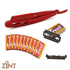 Stylish Barber Straight Edge Folding Shaving Knife Red Steel Shaving Knife Razor
